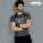Gladious Men's Sports Slim Fit Fitness Cotton T-Shirt - grey - medium