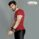Gladious Men's Sports Slim Fit Fitness Cotton T-Shirt - maroon - small